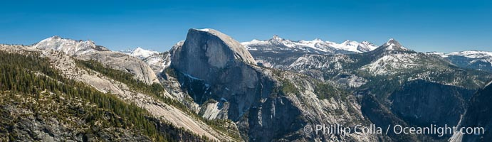 Half Dome and Yosemite High Country from Sierra Point, Yosemite National Park, California