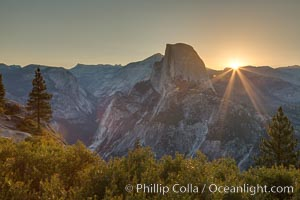 Half Dome at sunrise, viewed from Glacier Point, Yosemite National Park, California