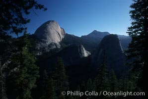 Backside of Half Dome viewed from Panorama Trail. Half Dome, Yosemite National Park, California, USA, natural history stock photograph, photo id 03460