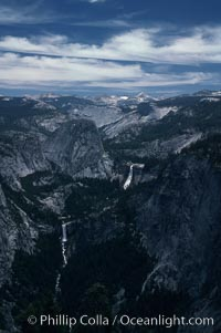 View from Glacier Point toward Little Yosemite Valley, Yosemite National Park, California