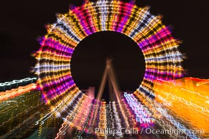 High Roller Ferris Wheel at Night, Las Vegas, Nevada. Las Vegas, Nevada, USA, natural history stock photograph, photo id 32650