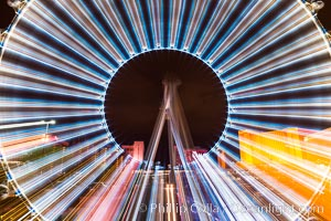 High Roller Ferris Wheel at Night, Las Vegas, Nevada. Las Vegas, Nevada, USA, natural history stock photograph, photo id 32653