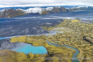 Highlands of Southern Iceland, Aerial View