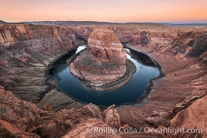 Horseshoe Bend Sunrise, Colorado River, Page, Arizona