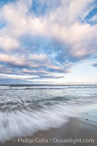 Hospital Point, La Jolla, dawn, sunrise light and approaching storm clouds. California, USA, natural history stock photograph, photo id 28852