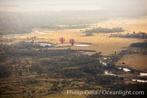 Hot Air Ballooning over Maasai Mara plains, Kenya, Maasai Mara National Reserve