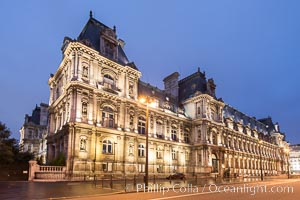 Hotel de Ville.  The Hotel de Ville in Paris, France, is the building housing the City of Paris's administration. Standing on the place de l'Hotel de Ville (formerly the place de Greve) in the city's IVe arrondissement, it has been the location of the municipality of Paris since 1357