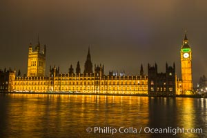 House of Parliment at Night. Houses of Parliment, London, United Kingdom, natural history stock photograph, photo id 28283