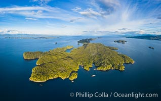 Hurst Island aerial photo. British Columbia, Canada, natural history stock photograph, photo id 35539