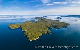 Hurst Island aerial photo