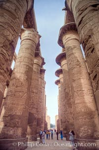 Hypostyle Hall of Columns, Karnak Temple complex. Luxor, Egypt, natural history stock photograph, photo id 18482