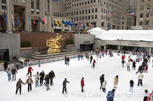 Ice skating at Rockefeller Center, winter, Manhattan, New York City