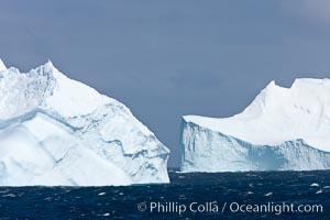 Iceberg. Scotia Sea, Southern Ocean, natural history stock photograph, photo id 24848