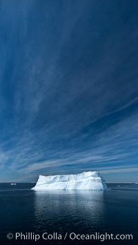 Iceberg, clouds and sky, Antarctica. Antarctic Sound, Antarctic Peninsula, Antarctica, natural history stock photograph, photo id 24785