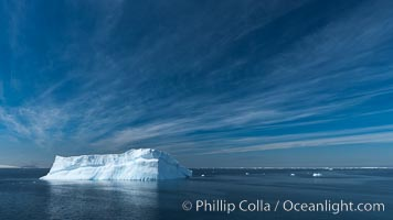 Iceberg, clouds and sky, Antarctica. Antarctic Sound, Antarctic Peninsula, natural history stock photograph, photo id 24813