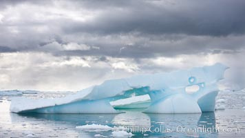 Iceberg, clouds and water, Neko Harbor, Antarctica