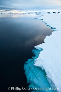 The edge of the fast ice along the shore, near Paulet Island. Antarctic Peninsula, Antarctica, natural history stock photograph, photo id 24788
