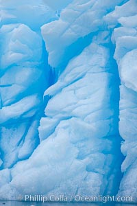 Iceberg detail.  Cracks and melt patterns.  Blue ice. Brown Bluff, Antarctic Peninsula, Antarctica, natural history stock photograph, photo id 24862