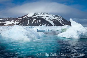 Icebergs floating in the ocean near Paulet Island