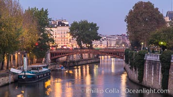 Ile de la Cite, one of two remaining natural islands in the Seine within the city of Paris It is the center of Paris and the location where the medieval city was refounded