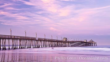 Imperial Beach pier at sunrise, California, USA, natural history stock photograph, photo id 27410