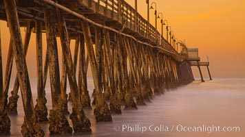 Imperial Beach pier at sunrise, Imperial Beach, California, USA, natural history stock photograph, photo id 27414