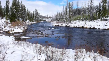Indian Creek in winter, snow, Yellowstone National Park, Wyoming