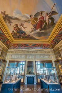Inside the Louvre Museum, Paris. Musee du Louvre, France, natural history stock photograph, photo id 28050