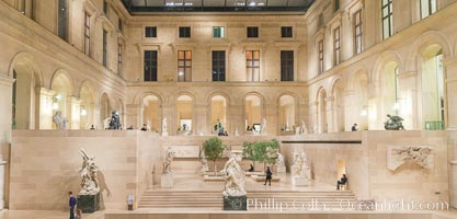 Inside the Louvre Museum, Paris. Musee du Louvre, France, natural history stock photograph, photo id 28092