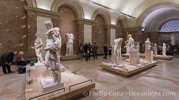 Inside the Louvre Museum, Paris, Musee du Louvre