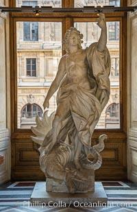 Inside the Louvre Museum, Paris. Musee du Louvre, Paris, France, natural history stock photograph, photo id 28219