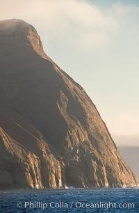 East face of Isla Adentro, daybreak, Guadalupe Island (Isla Guadalupe)