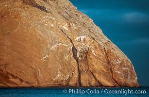 Isla Adentro, interesting geology, sunrise, Guadalupe Island (Isla Guadalupe)