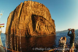Dawn at Isla Afuera from Boat Horizon, Guadalupe Island (Isla Guadalupe)