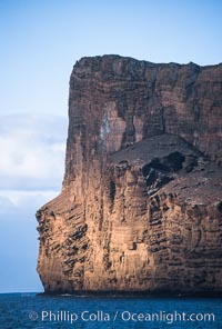 Isla Afuera eastern cliffs. Guadalupe Island (Isla Guadalupe), Baja California, Mexico, natural history stock photograph, photo id 02390