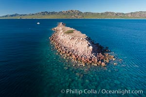 Isla Cayo, Aerial Photo, Sea of Cortez, Baja California