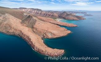 Isla Espiritu Santo, El Manglecito and Las Calaveritas, Aerial Photo