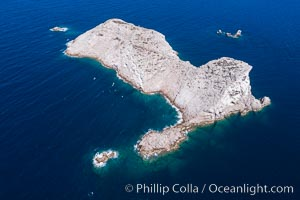Isla Las Animas, aerial photo, Sea of Cortez. Isla Las Animas, Baja California, Mexico, natural history stock photograph, photo id 33666