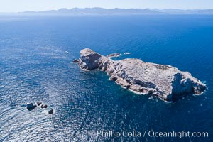 Isla Las Animas, aerial photo, Sea of Cortez. Isla Las Animas, Baja California, Mexico, natural history stock photograph, photo id 33667