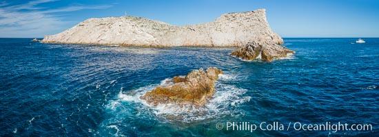 Isla Las Animas, panoramic aerial photo, Sea of Cortez. Isla Las Animas, Baja California, Mexico, natural history stock photograph, photo id 33676
