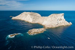 Isla Las Animas, aerial photo, Sea of Cortez. Isla Las Animas, Baja California, Mexico, natural history stock photograph, photo id 33677