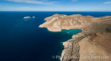 Isla Partida and Los Islotes, aerial photo, Sea of Cortez