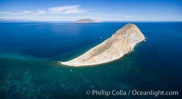 Isla San Diego, aerial photo, Sea of Cortez