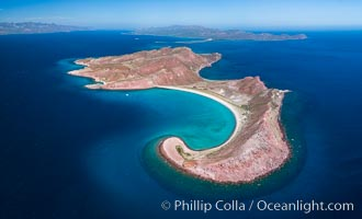 Isla San Francisquito, Aerial View, Sea of Cortez