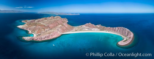 Isla San Francisquito, Aerial View, Sea of Cortez. Isla San Francisquito, Baja California, Mexico, natural history stock photograph, photo id 33630
