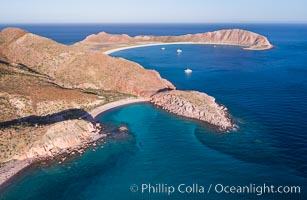 Isla San Francisquito, Aerial View, Sea of Cortez. Isla San Francisquito, Baja California, Mexico, natural history stock photograph, photo id 33643