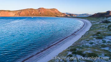 Isla San Francisquito, Aerial View, Sea of Cortez. Isla San Francisquito, Baja California, Mexico, natural history stock photograph, photo id 33664