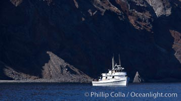 M/V Islander, anchored at Guadalupe Island, Guadalupe Island (Isla Guadalupe)