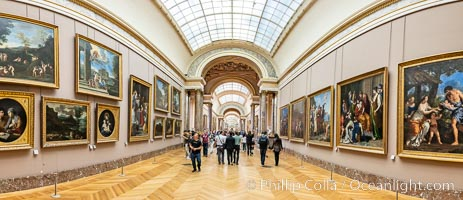 Italian Gallery artwork, Mus�e du Louvre, Musee du Louvre, Paris, France