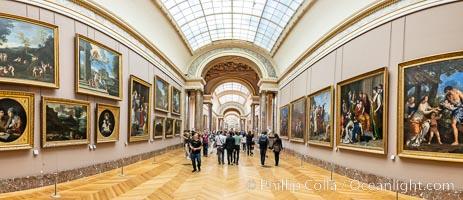Italian Gallery artwork, Mus�e du Louvre, Musee du Louvre, Paris, France